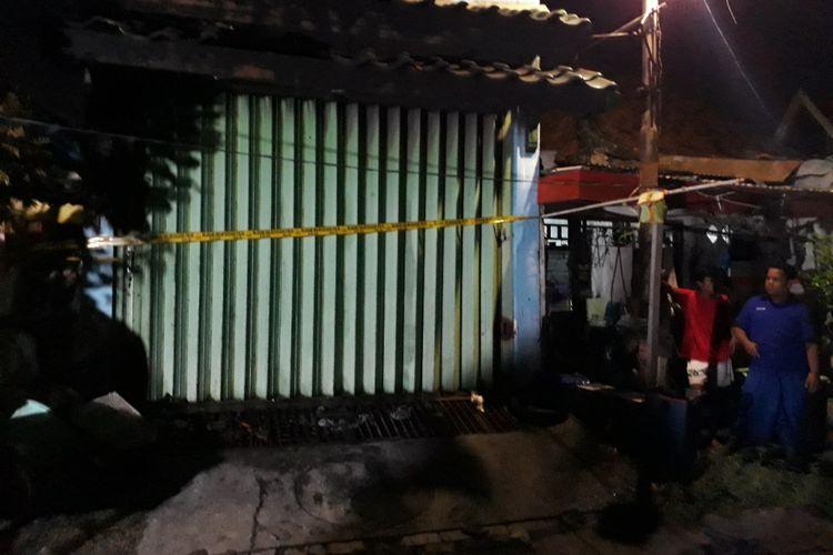 Lokasi rumah kos yang terbakar.