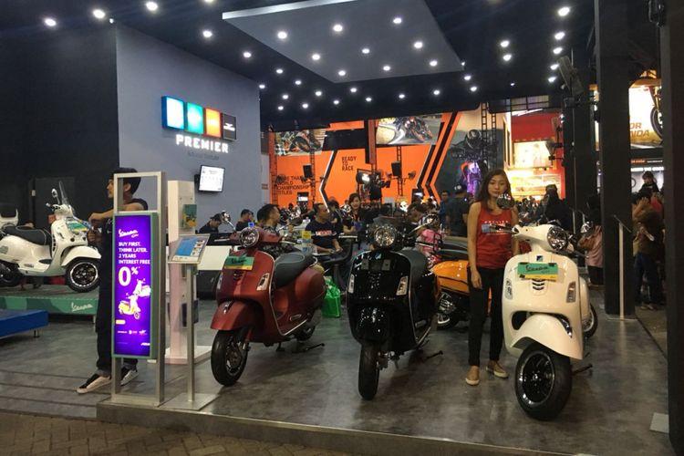 Booth Vespa dan Piaggio di Jakarta Fair Kemayoran (JFK) 2018