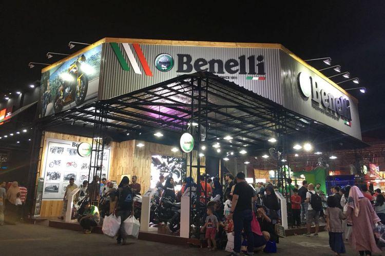 Booth Benelli di Jakarta Fair Kemayoran (JFK) 2018.