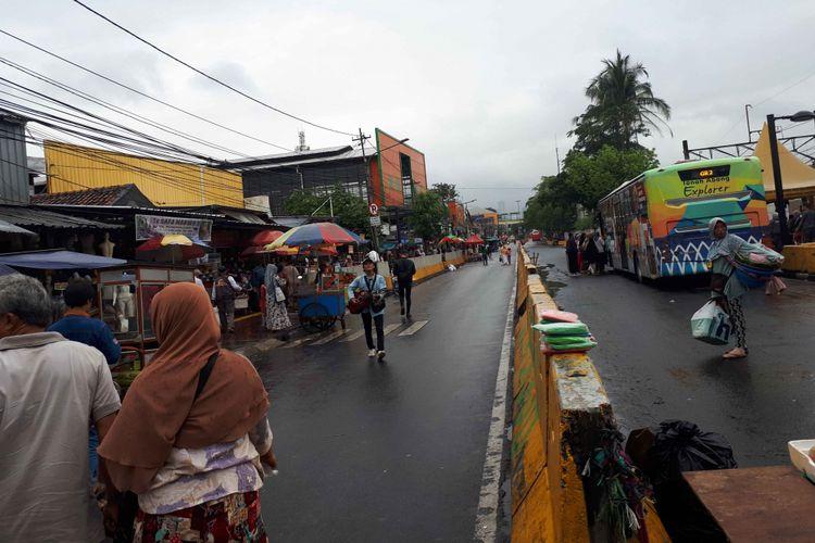 Kondisi Jalan Jatibaru, Tanah Abang, Senin (25/6/2018)