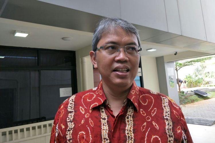 Wakil Ketua DPRD DKI Jakarta Triwisaksana di Balai Kota DKI Jakarta, Senin (2/7/2018).