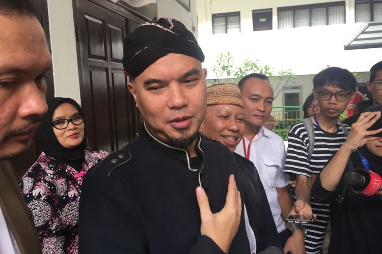 Ahmad Dhani menghadiri sidang kasus ujaran kebencian di PN Jakarta Selatan, Senin (2/7/2018).