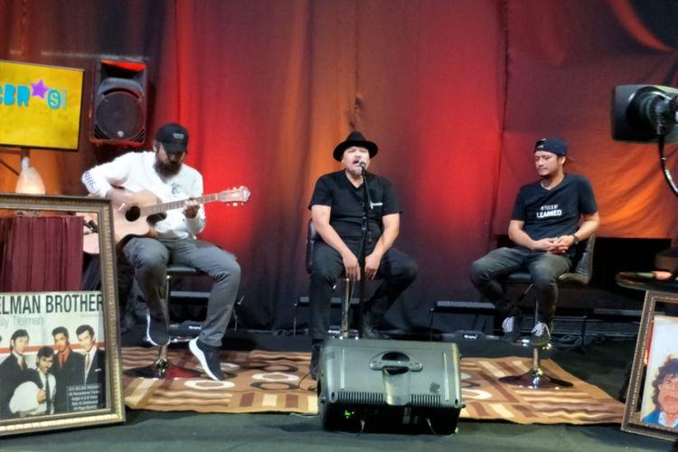 NTRL tampil dalam acara musik Selebrasi (Selebritas Beraksi) yang ditayangkan secara live streaming di Facebook Kompas.com pada Selasa (10/7/2018) siang.