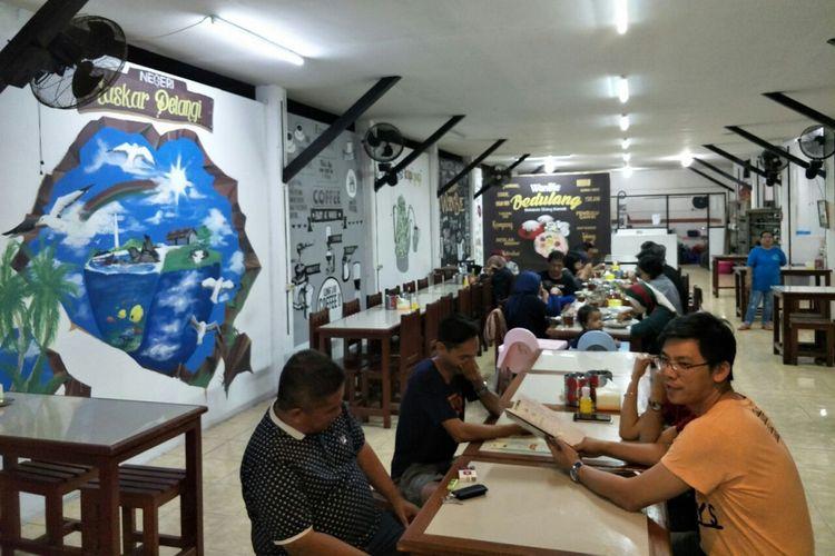 Restoran Wan Bie di Jalan Sriwijaya, Tanjung Pandan, yang menyajikan nasi bedulang khas Belitung. Foto diambil pada Kamis (6/9/2018).