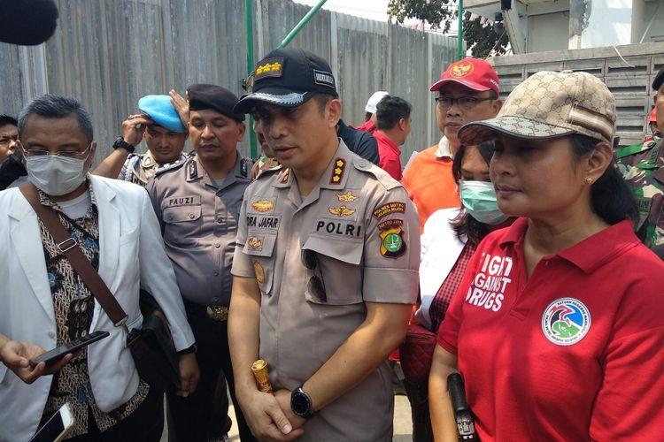 Kapolres Metro Jakarta Selatan Kombes Indra Jafar di Pasar Rumput, Jakarta Selatan, Sabtu (15/9/2018).