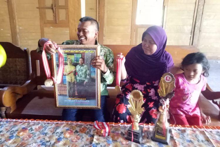 Sugimin, ayah Sri Sugiyanti saat ditemui di rumahnya? diDesa Sengonwetan, Kecamatan Kradenan, Grobogan, Jateng, Rabu (10/10/2018).?
