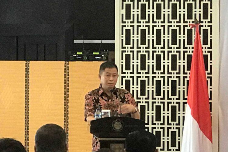 Menteri ESDM Ignasius Jonan di Jakarta, Jumat (12/10/2018).