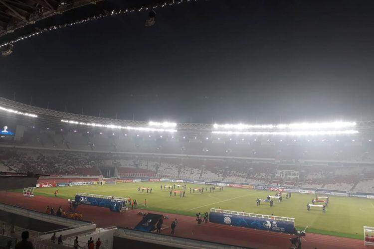 Suasana Opening Ceremony Piala Asia U-19 di Stadion Utama Gelora Bung Karno, Kamis (18/10/2018).