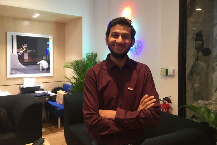 Pendiri sekaligus Chief Executive Officer OYO Hotels, Ritesh Agarwal di Jakarta, Kamis (18/10).