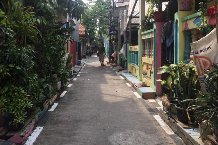 Kampung ramah pejalan kaki di Sunter Jaya, Jakarta Utara.