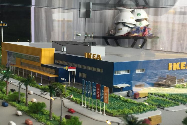 Maket IKEA Jakarta Garden City (JGC).