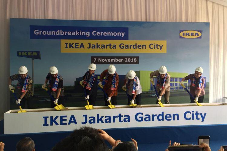Peresmian groundbreaking IKEA Jakarta Garden City, Rabu (7/11/2018)