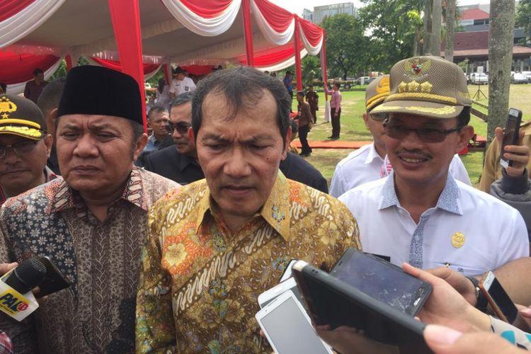 Wakil Ketua KPK Saut Situmorang ketika berada di Palembang, Sumatera Selatan, Kamis (6/12/2018).