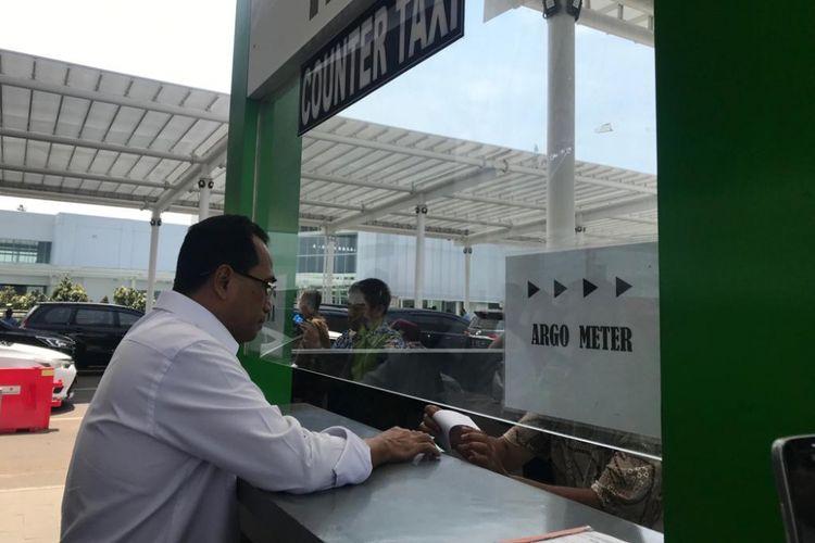 Menteri Perhubungan Budi Karya Sumadi saat di Bandara Ahmad Yani, Semarang, Jumat (7/12/2018).