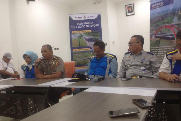 Kepala Bagian Operasional Korlantas Polri Komisaris Besar Benyamin, di sela susur tol Trans Jawa di Semarang, Jumat (7/12/2018).
