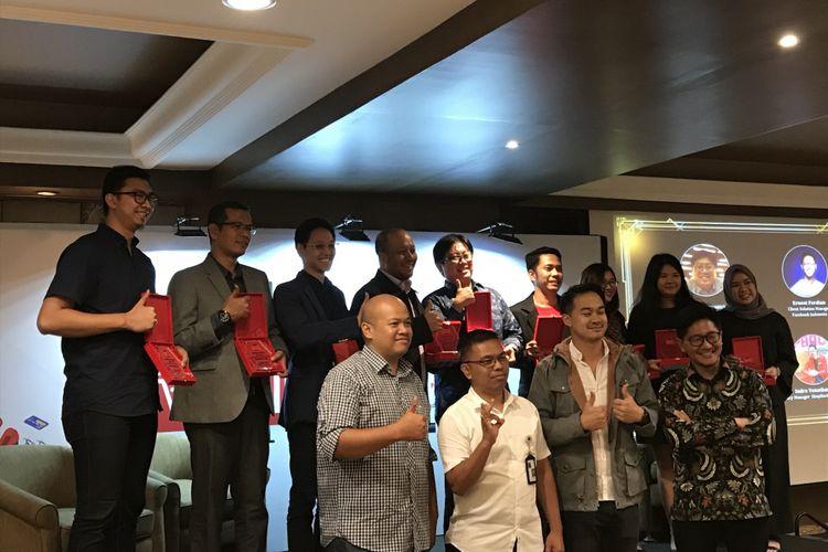 Konferensi Pers Hasil Hari Belanja Online Nasional (Harbolnas) 2018 di Midplaza, Jakarta Pusat, Rabu (19/12/2018) malam