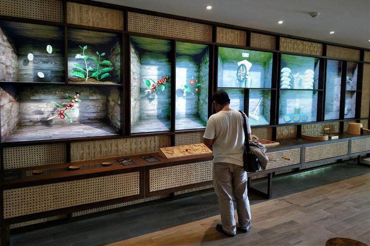 Media interaktif mengenai penanaman dan pemrosesan kopi di Starbucks dewata