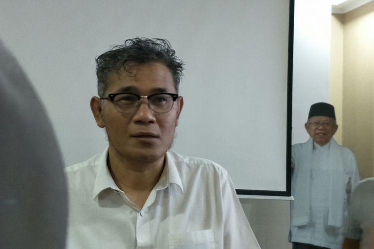 Politisi PDI-Perjuangan Budiman Sudjatmiko di Posko Cemara, Kamis (21/2/2019).