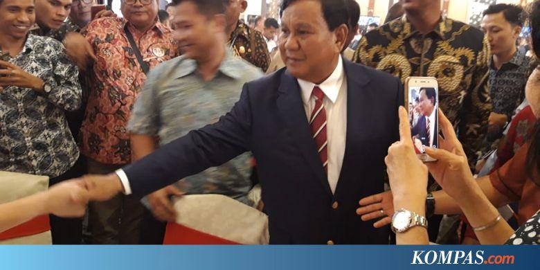Prabowo: Saya Tidak Salahkan Siapa-siapa, Jangan Suka Menghujat