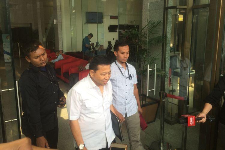Mantan Ketua DPR RI Setya Novanto usai Diperiksa Penyidik KPK, Senin (27/8/2018).