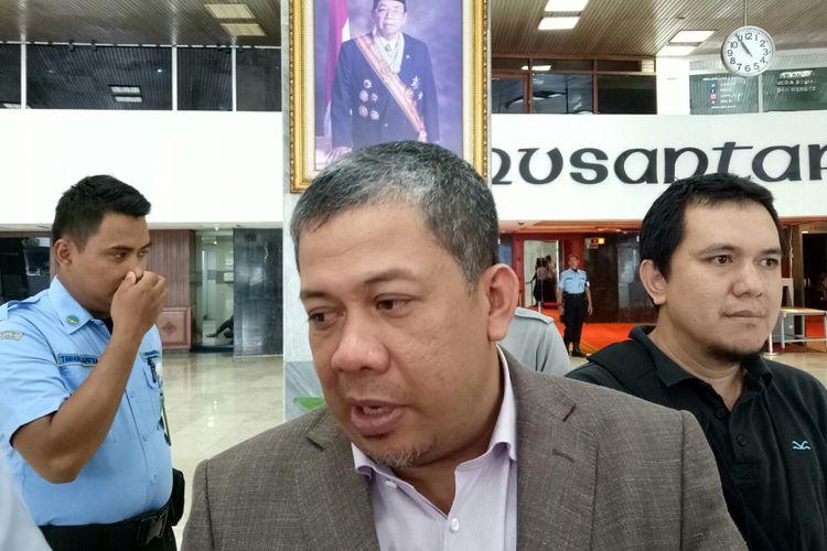 Wakil Ketua DPR Fahri Hamzah di Kompleks Parlemenn, Senayan, Jakarta, Rabu (18/10/2017)