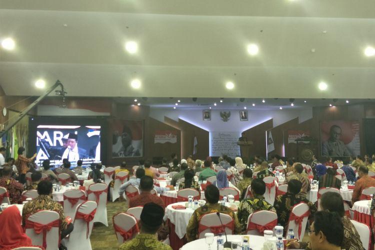 Menteri Dalam Negeri Tjahjo Kumolo saat memberikan pembekalan Kepemimpinan bagi Kepala Daerah dan Wakil Kepala Daerah Angkatan III Tahun 2017, di aula BPSDM Kemendagri, Kalibata, Jakarta Selatan, Rabu (6/12/2017).