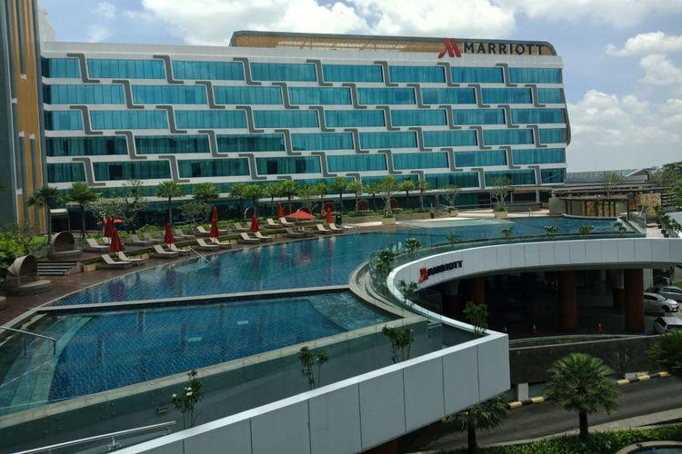 Bangunan Yogyakarta Marriott Hotel, yang berada di Jalan Ringroad Utara, Condong Catur, Sleman, Yogyakarta, Jumat (9/2/2018).