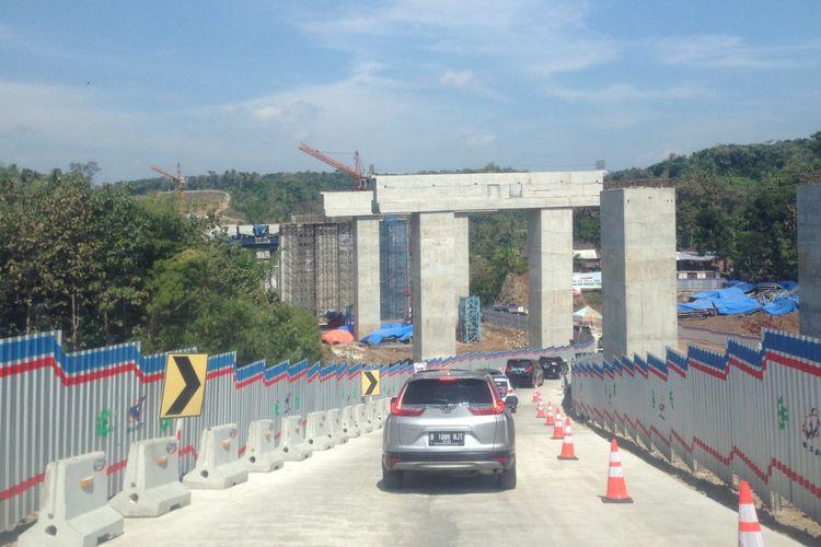 Jembatan Kenteng di ruas tol fungsional Salatiga-Kartasura, Rabu (13/6/2018)