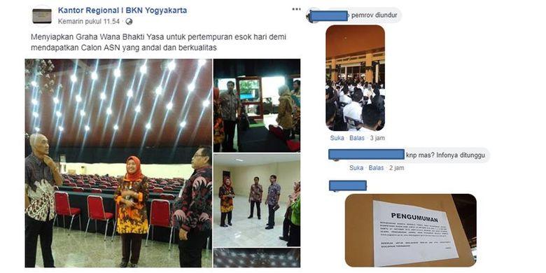 Pengunduran tes SKD CPNS di Yogyakarta
