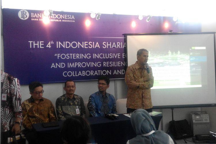 Media briefing Badan Pengelola Keuangan Haji (BPKH) di Grand City Surabaya, Jumat (10/11/2017).