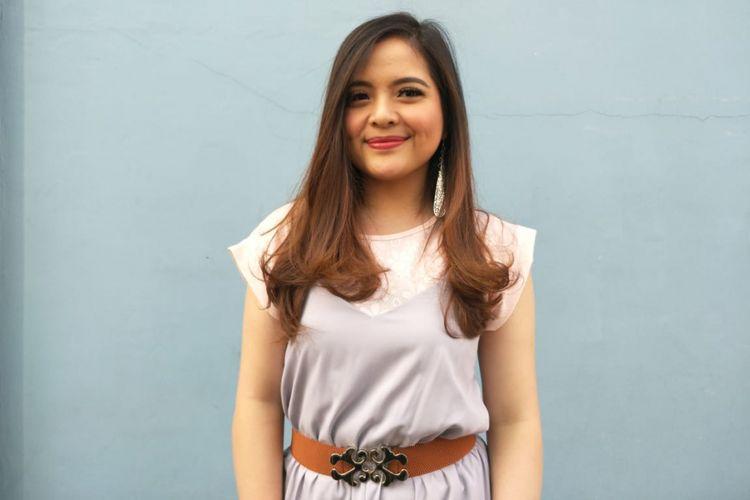 Tasya Kamila ditemui usai menjalani sebuah kegiatan di kawasan Tendean,  Jakarta Selatan, Rabu (13/6/2018).