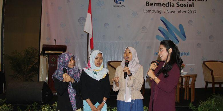 Diskusi Literasi Cerdas Bermedia Sosial? digagas Mudamudigital di Kota Bandar Lampung, Jumat (3/11/2017).