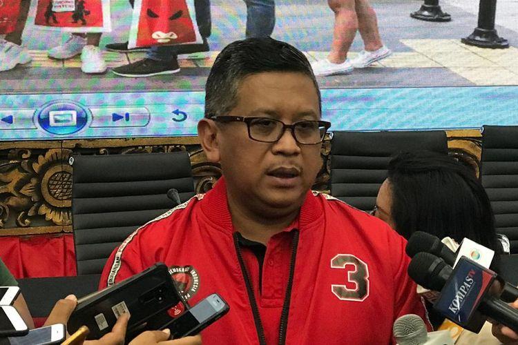Sekretaris Jenderal PDI-P Hasto Kristiyanto saat ditemui di kantor DPP PDI-P, Jakarta Pusat, Selasa (16/4/2019).