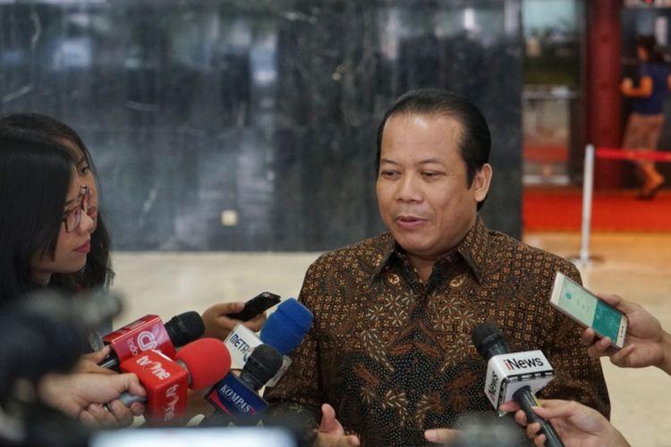 Wakil Ketua DPR RI Taufik Kurniawan di Kompleks Parlemen, Senayan, Jakarta, Senin (21/5/2018).