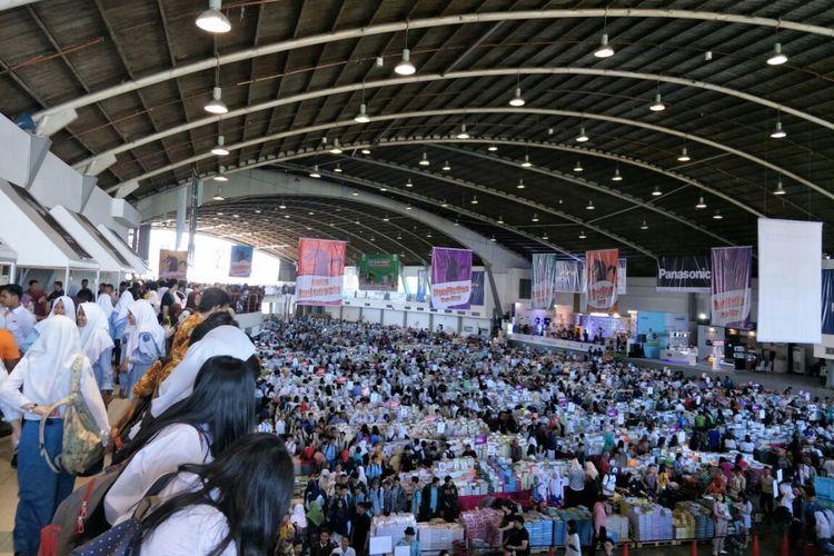 Pameran buku dibuka 280 jam nonstop dengan 2,5 juta buku yang dipamerkan Foto: KOMPAS.com/Achmad Faizal