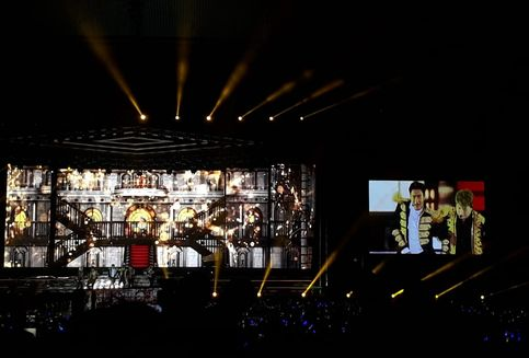 Super Junior Buka Konser Super Show 7S dengan 'Black Suit'