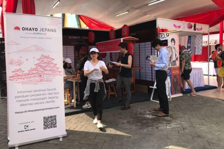 Stan Ohayo Jepang di Festival Ennichisai yang berlangsung pada tanggal 30 Juni-1 Juli 2018 di kawasan ?Little Tokyo? Blok M Square, Jakarta Selatan.