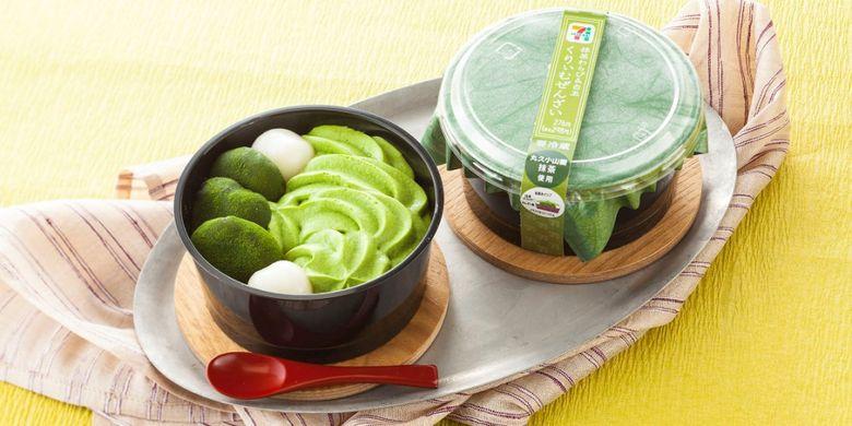 Matcha Warabi & Shirotama Cream Zenzai