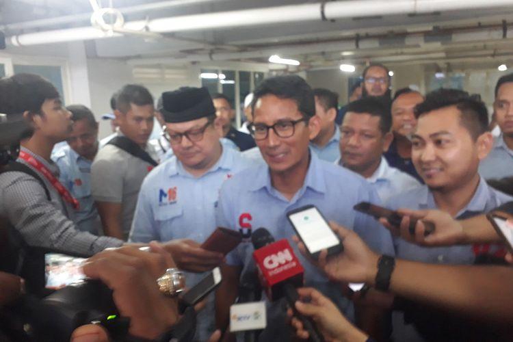 Cawapres nomor urut 02 Sandiaga Uno saat berada di Surabaya, Kamis (4/4/2019)
