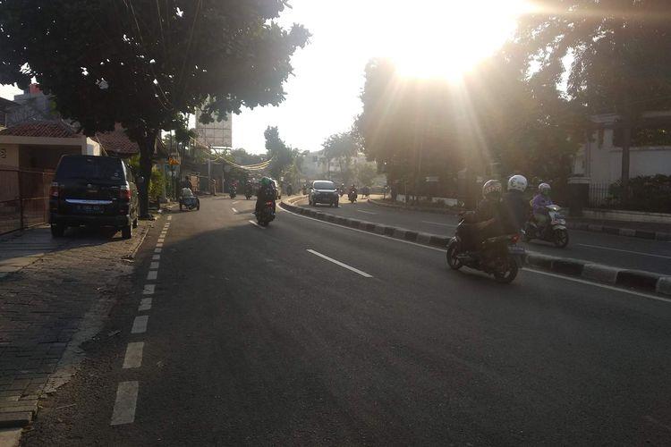 Suasana Jalan Aipda KS Tubun, Tanah Abang, Jakarta Pusat, Kamis (23/5/2019) pagi.
