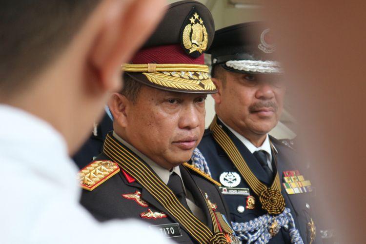 Kepala Kepolisian Republik Indonesia, Jenderal Tito Karnavian ketika ditemui di kantor Wapres RI, Jakarta, Rabu (14/2/2018).