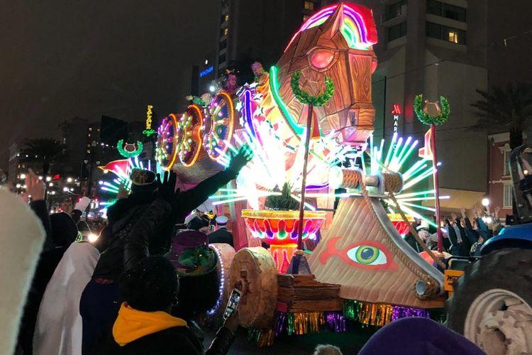Parade Mardi Gras di New Orleans, Amerika Serikat