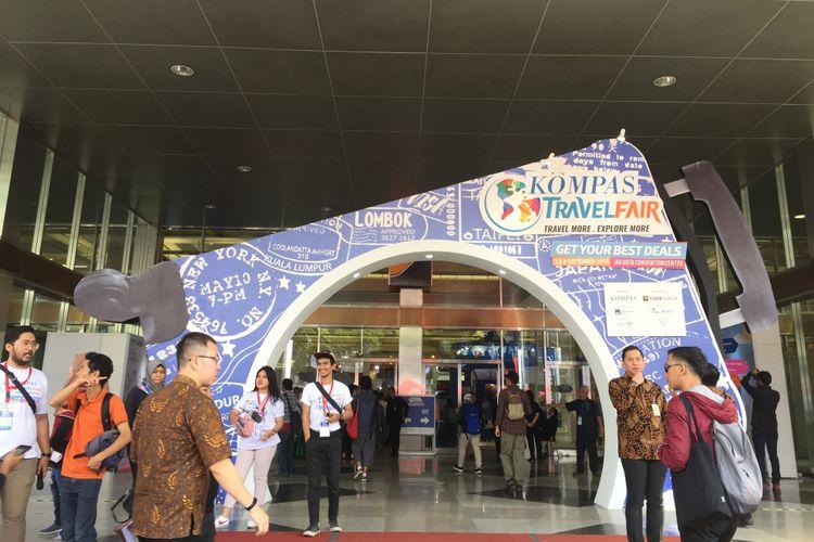 Kompas Travel Fair resmi dibuka di Jakarta Convention Center, Jumat (7/9/2018).