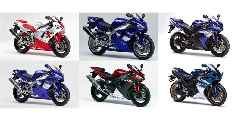 Generasi Yamaha R1 selama 20 tahun