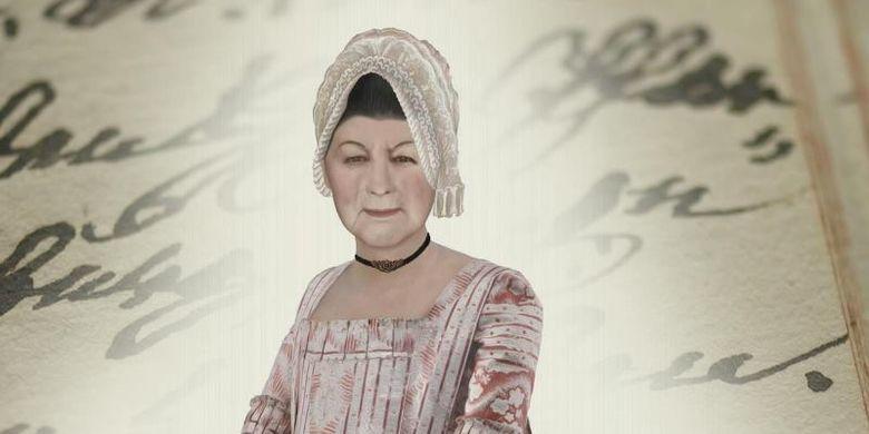 Rekonstruksi kemungkinan penampilan Anna Catharina Bischoff. (The Telegraph)