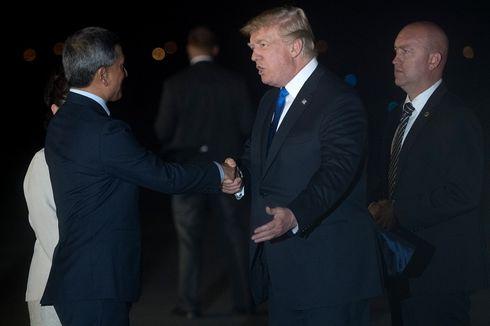 Presiden Donald Trump Tiba di Singapura