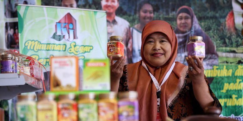 Karyani berhasil mengekspor produk minuman herbal instan miliknya ke Korea Selatan sebanyak 400 botol per bulan.