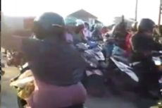 Viral Video Ibu-ibu Terobos Palang Pintu Kereta Api