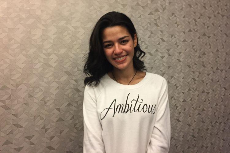 Susan Sameh menghadiri acara syukuran film Dear Nathan: Hello Salma di kantor Rapi Film, Cikini, Jakarta Pusat, Selasa (16/5/2018).