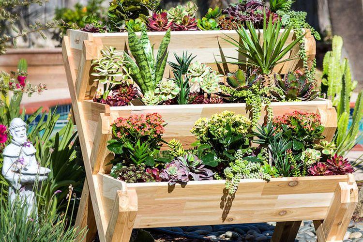 Pot bertingkat solusi taman tanpa lahan